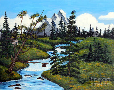 Cold Rattling Brook  Art Print by Barbara Griffin