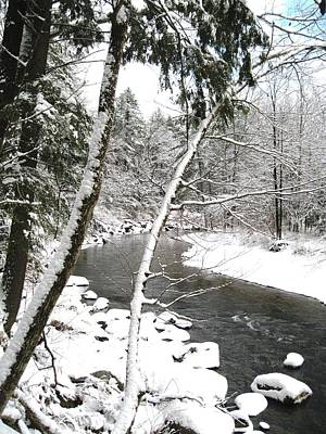 Cold River Greeting Card Art Print by Will Boutin Photos