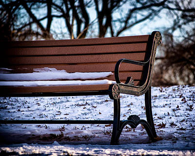Photograph - Cold Seat In Riverside Park by Bill Swartwout Fine Art Photography