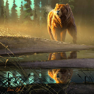 Grizzly Digital Art - Cold Sunrise by Aaron Blaise