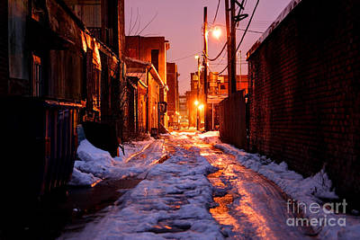 Ghetto Photograph - Cold Urban Alleyway by Denis Tangney Jr