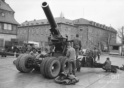 West Point Photograph - Cold War American Artillery In West Germany by The Harrington Collection
