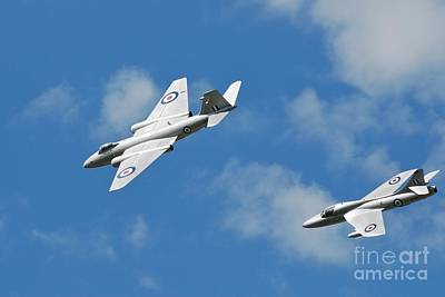 Photograph - Cold War Jet Formation by David Fowler