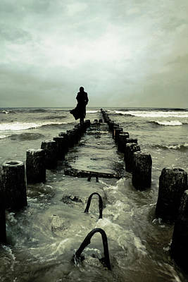 Alone Photograph - Cold Waves by Cambion Art