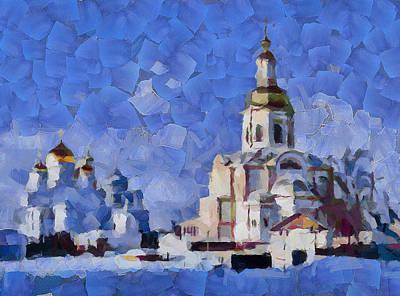 Siberia Digital Art - Cold Winter Church by Yury Malkov