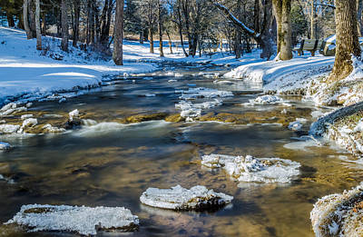 Cold Winter Creek Art Print