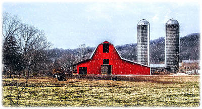 Photograph - Cold Winter Day At The Farm by Peggy Franz