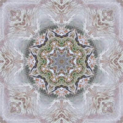 Digital Art - Cold Winter Mandala by Beth Sawickie