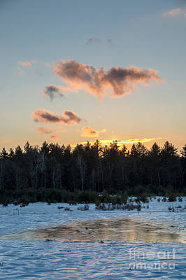 Photograph - Cold Winter Sunset by Cheryl Baxter