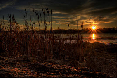 Photograph - Cold Winter Sunset by David Dufresne