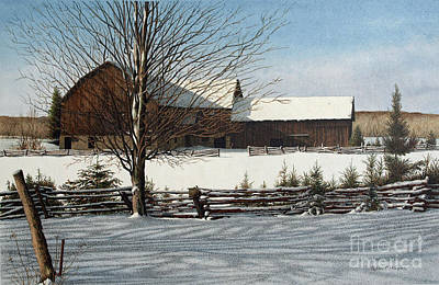 Painting - Cold Winters Day by Robert Hinves