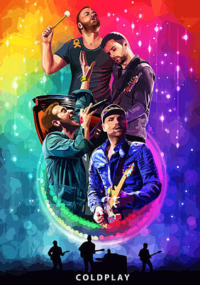 Coldplay Painting - Coldplay Mylo Xyloto by FHT Designs