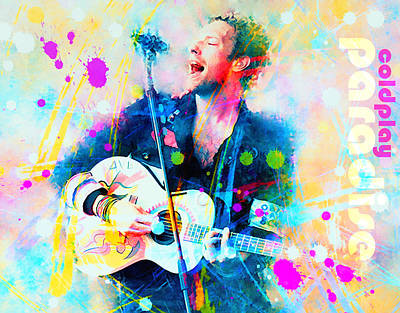 Coldplay Painting - Coldplay Paradise by Rosalina Atanasova