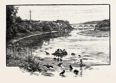 Coldstream Bridge, From Up-stream. Coldstream Bridge Art Print