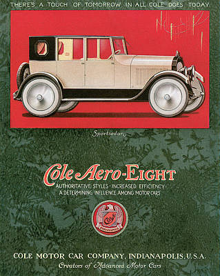 Cole Aero Eight Vintage Poster Art Print by World Art Prints And Designs