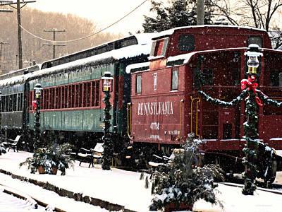 Colebrookdale Railroad In Winter Art Print