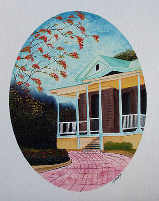 Colegio De Arquitectos En Pr Art Print by Gloria E Barreto-Rodriguez