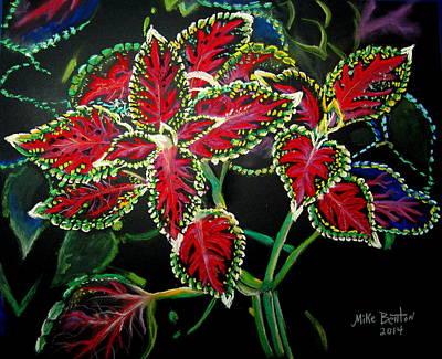 Pastel - Coleus by Mike Benton