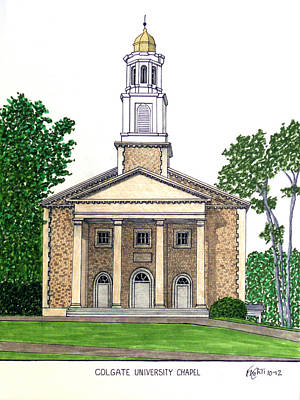 Drawing - Colgate University Chapel by Frederic Kohli