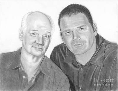 Drawing - Colin And Brad by Christian Conner