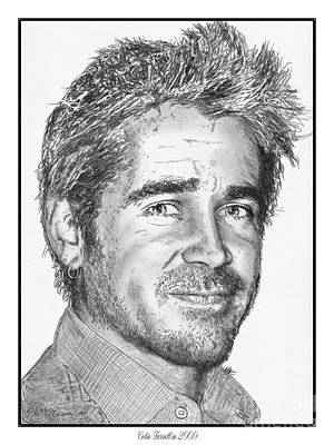 Drawing - Colin Farrell In 2009 by J McCombie