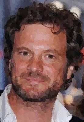 Colin Firth Portrait Art Print