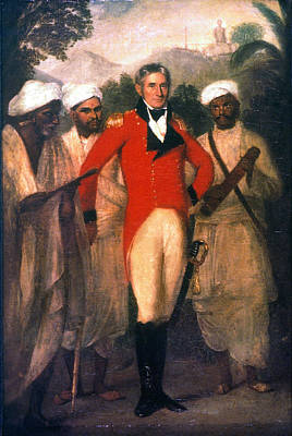 Redcoat Painting - Colin Mackenzie (1754-1821) by Granger
