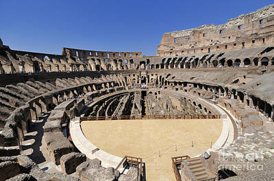 Lazio Photograph - Coliseum . Rome by Bernard Jaubert