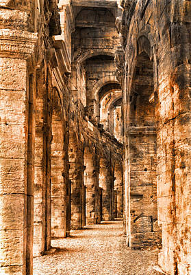 Photograph - Coliseum Arles France Golden by Bob Coates