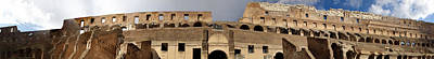 Photograph - Coliseum In Rome - Panorama by David Coblitz