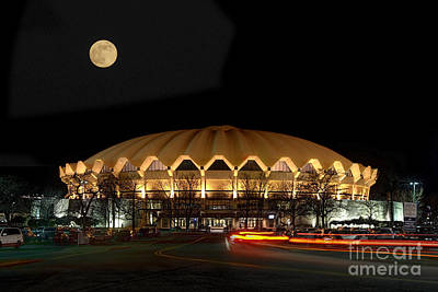 Art Print featuring the photograph Coliseum Night With Full Moon by Dan Friend