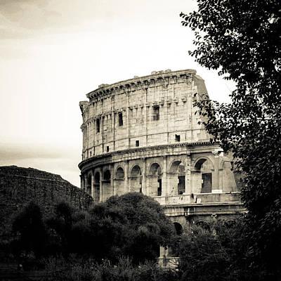 Ancient Rome Photograph - Coliseum Section by David Waldo