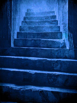 Photograph - Coliseum Stairs Blue by Bob Coates