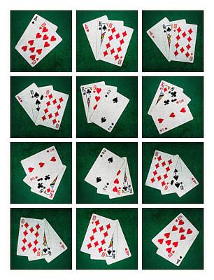 Winning Combination Photograph - Collage - Card Of Twenty One by Alexander Senin