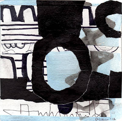 Collage Drawing One Art Print