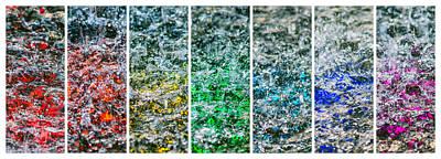 Tile Composition Photograph - Collage Liquid Rainbow 1 - Featured 3 by Alexander Senin