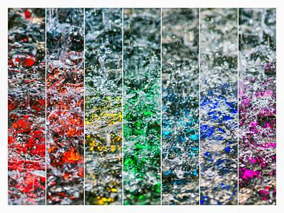 Tile Composition Photograph - Collage Liquid Rainbow 2 - Featured 3 by Alexander Senin
