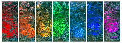 Tile Composition Photograph - Collage Liquid Rainbow 4 - Featured 3 by Alexander Senin
