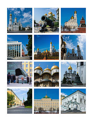 Collage Moscow Kremlin 2 - Featured 3 Art Print