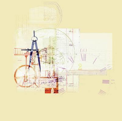 Accountancy Wall Art - Photograph - Collage Of Clock, Accounts by Ikon Ikon Images