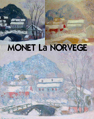 Montage Digital Art - Collage Of Monet's Norwegian Works by Philip Ralley