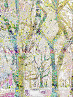 Collage Of Trees Art Print