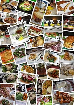 Photograph - Collage With Traveling Baby Pandas Tasting American Food 01 by Ausra Huntington nee Paulauskaite