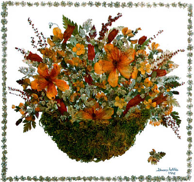 Flower Still Life Mixed Media - Collage With Wild Flowers by Madalena Lobao-Tello