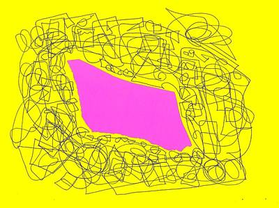 Eliso Digital Art - Collage Yellow Rose by Eliso  Silva