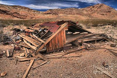 Photograph - Collapsed At Rhyolite by Adam Jewell