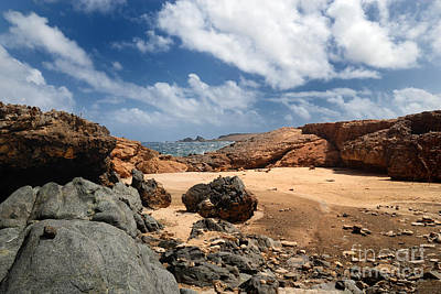 Aruba Photograph - Collapsed Natural Bridge Aruba by Amy Cicconi