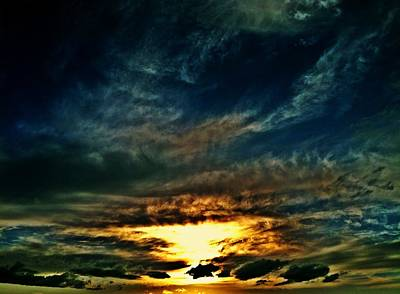 Collapsing Sunset Art Print