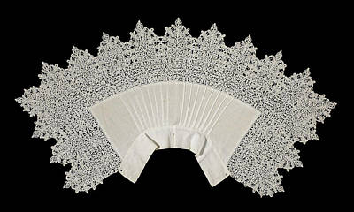 Collar Of Linen Trimmed With Reticella Needle Lace Art Print