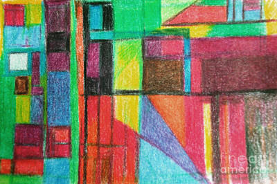 Creativity Drawing - Collected Thought 1 by David Baruch Wolk